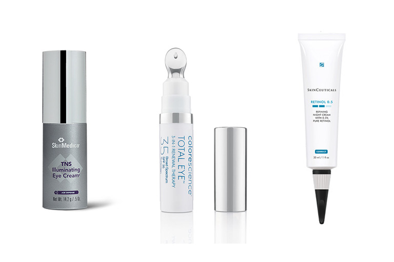 Eye Care Bundle TNS Illuminating Eye Cream, Total Eye Repair and the SkinCeuticals Retinol